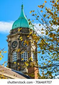 Turm der Schlosshalle, Schloss Dublin. Dublin City, Irland