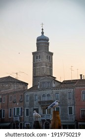 tower of chuch in the Murano island