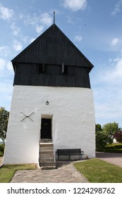 The tower of the Østerlars Church from 1150 on the island Bornholm. Denmark