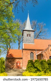 Tower of Church of the Invention of the Holy Cross in Krzywe Kolo, Poland. - Shutterstock ID 1972650785