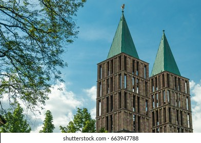 Tower of the Martin´s Church in Kassel, Germany, Europe