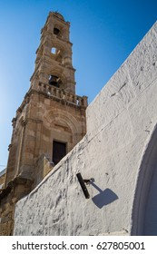 Tower of Church of the Panagia in Lindos Rhodes Greece