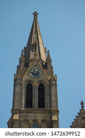 A tower, Church of Saint Ludmila at Namesti miru or Peace Square