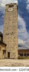 Tower of the church of San Giorgio in Valpolicella in the province of Verona, Veneto - Italy