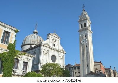 Tower and church in Venice