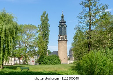 Tower of the city castle in Weimar in Germany