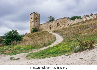 Tower of Clemens, Genoese fortress, XIV century, Crimea, Feodosia