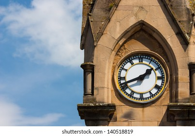 Tower clock on the tower in Penrith in England