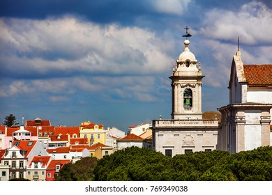 Tower of the Convent and Church of Our Lady of Grace (Igreja e Convento da Graca), Lisbon, Portugal