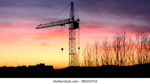 tower crane against the sky