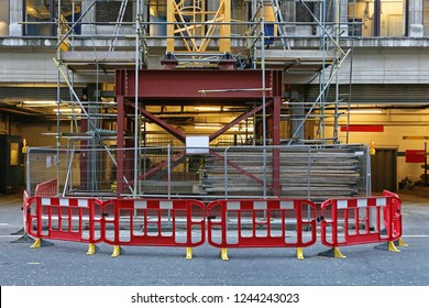 Tower Crane Base at Building Construction Site