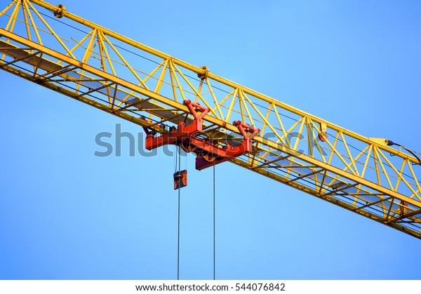 Tower Crane Load Trolley Girder Boom Stock Photo (Edit Now
