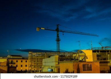 Tower Crane work in progress Cagliari