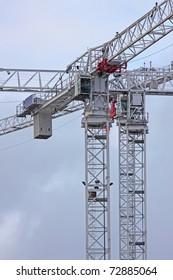Tower cranes detail