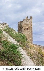 Tower of Crisco, Genoese fortress, XIV century, Crimea, Feodosia