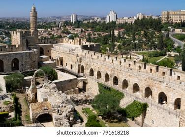 The Tower of David, an ancient Jerusalem Citadel