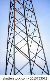 Tower, detail, metal, sky