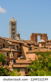 the tower of the Dome of Siena, Toscany, Italy