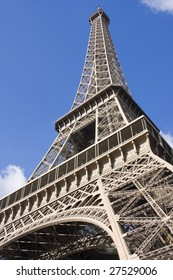 tower eiffel of France seen from an angle inferior