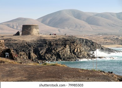 Tower in El Cotillo Fuerteventura Canary islands Spain