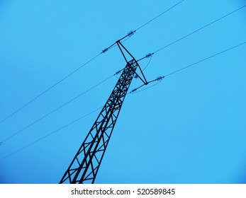 Tower of electricity and sky