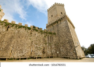 The tower of the Erice castle of Venus, province of Trapani, Sicily.