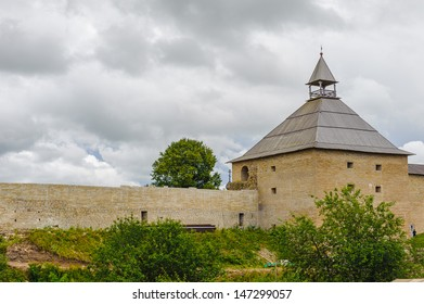 Tower of a fortress in Russia