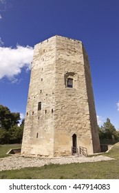 Tower of Fredrick II is a medieval octagonal base monument in Enna, Sicily