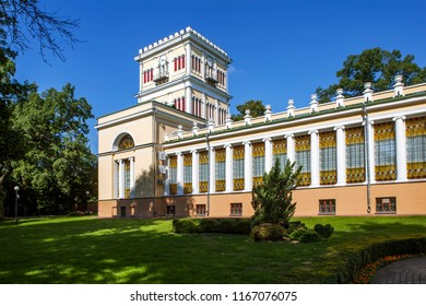 The tower with the gallery of the Rumyantsevs' Palace - the Paskevichs. Gomel. Belarus
