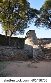 Tower in the Great Enclosure, Great Zimbabwe,
