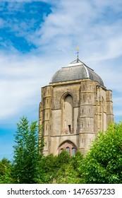 Tower of Grote Kerk Church in Veere, The Netherlands