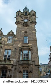 Tower of Hawick Town Hall, UK.