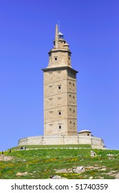 Tower of Hercules in A Coruna, the oldest active lighthouse in the world, part of the UNESCO World Heritage