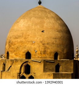 Tower of the historic and famous Ibn Tulun mosque in Cairo, Egypt