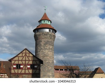 Tower of the Imperial Castle to Nuremberg, Germany, a building from the Middle Ages