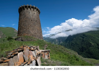The tower of Itsari, Dagestan