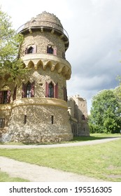 Tower of John's castle in Lednice/Valtice region, Moravia, Czech republic