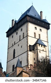 The tower of Karlstejn castle.