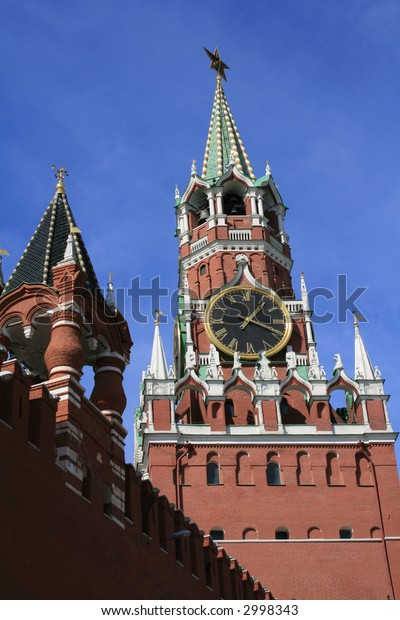 Tower of Kremlin in Moscow (Red square, Moscow, Russia).