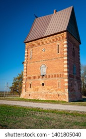 Tower of Labunava Manor, Lithuania. Labunava Manor is known since the 16th century. The manor house belonged to noblemen Zabielos in the 19th century.