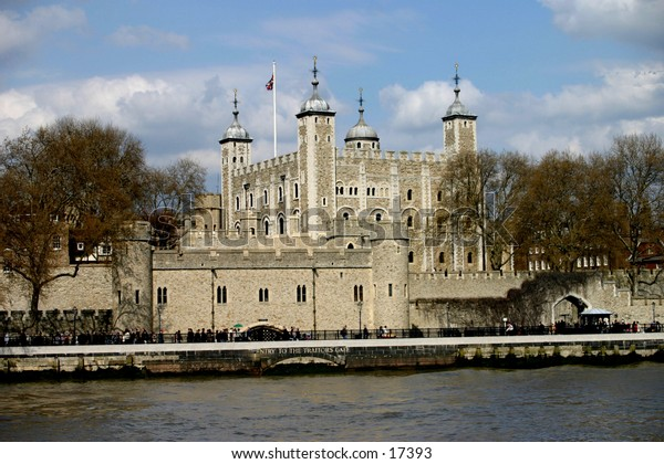 Tower of London from across the river thames