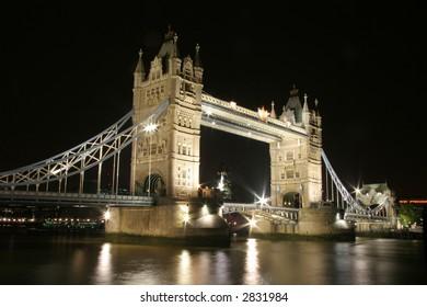 Tower (London) Bridge at night