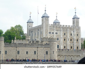 The Tower of London, London England May 17 2019: The tower of London from the Thames river