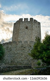 The tower with the loopholes inside the castle.