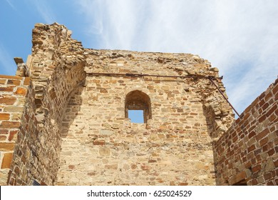 Tower Lucigny de Flisco Lavani from within the Genoese fortress in Sudak, Crimea