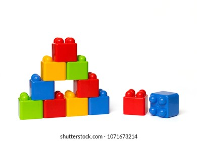 A tower made of toy blocks