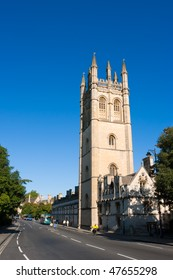 Tower of Magdalen College, Oxford University. UK