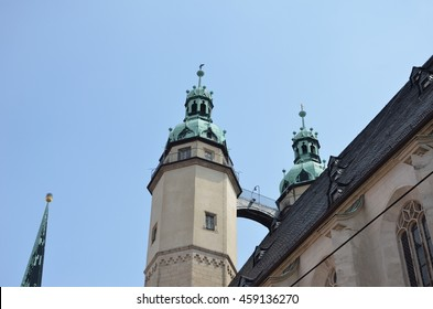Tower of Marktkirche Halle (Saale) Germany