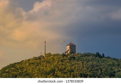 Tower in the middle of a beautiful and green nature in Vrsac city.
