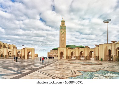 Tower Mosque Hassan II in Casablanca, Morocco